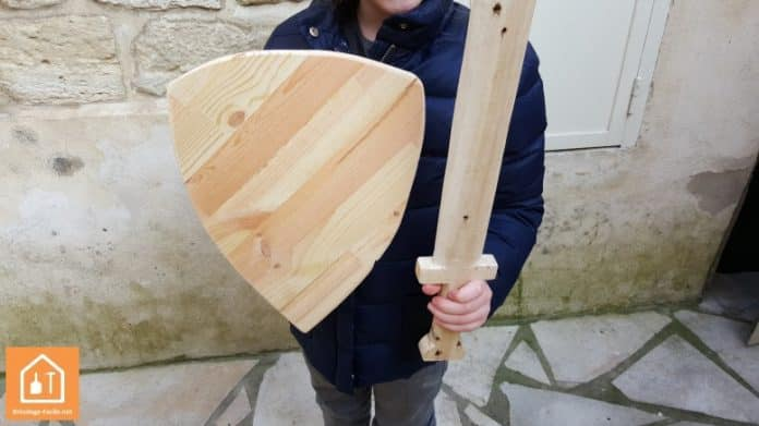bouclier en bois