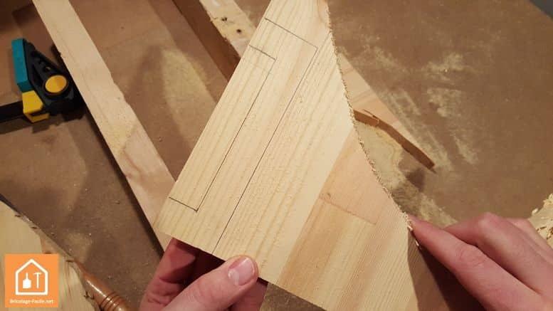 Fabriquer un bouclier en bois - le reste de la planche