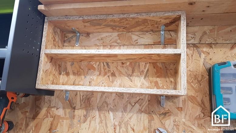 Installation de l'étagère en OSB