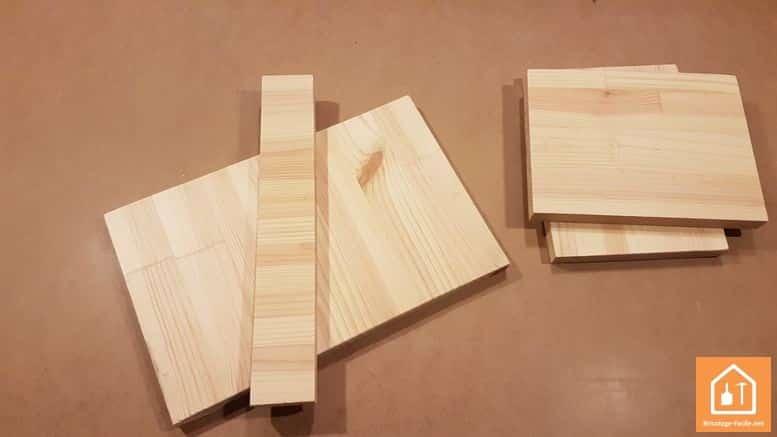 Fabriquer un marche pied en bois - les planches de bois