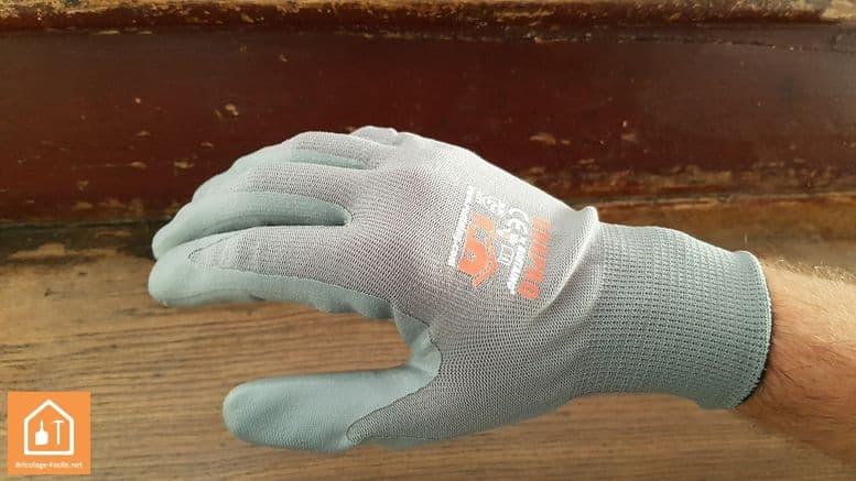 gants de bricolage Rostaing NBRPRO - dos de la main en tissu