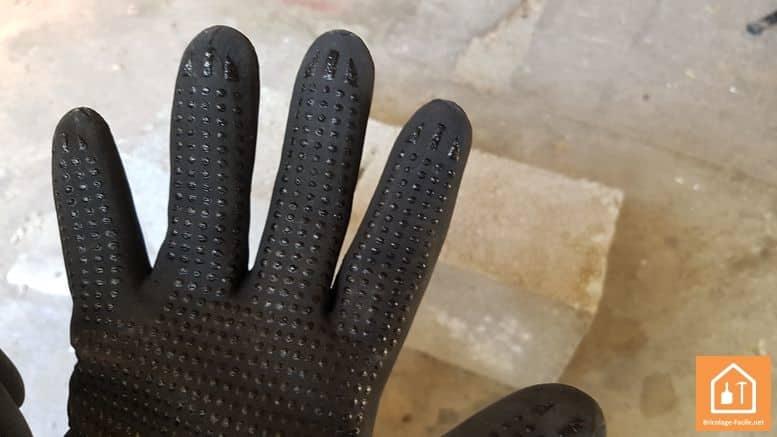 gants de bricolage Rostaing MAXIPRO - picot sur la paume du gant