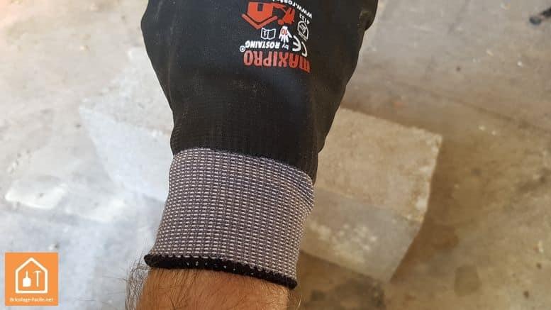 gants de bricolage Rostaing MAXIPRO - élastique autour du poignet