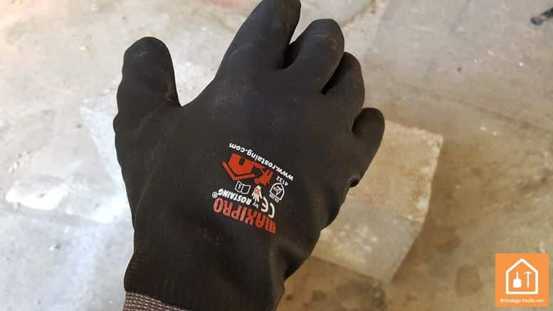 gants de bricolage Rostaing MAXIPRO - gant enduit