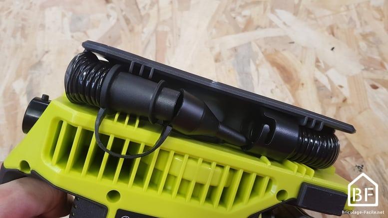 rangement tuyau flexible pour le gonflage