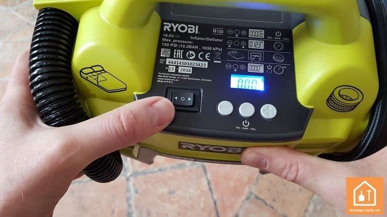 gonfleur électrique sans fil Ryobi