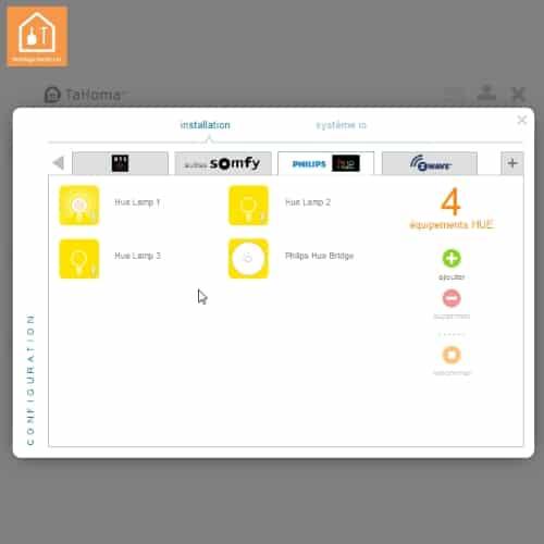 Interface Tahoma pour Philips Hue