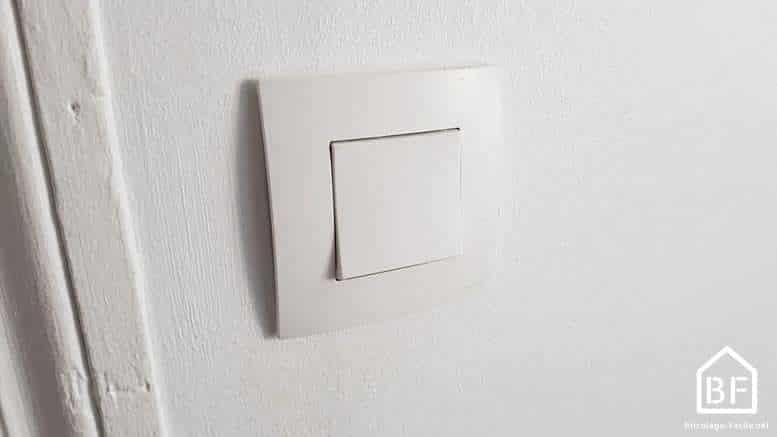 branchement d 39 un interrupteur simple sch ma lec bricolage facile. Black Bedroom Furniture Sets. Home Design Ideas