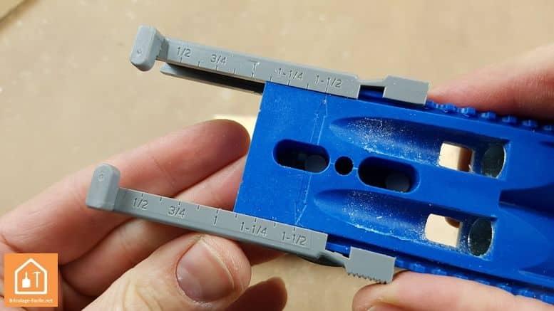 Kit d'assemblage Jig R3 de Kreg - réglage profondeur