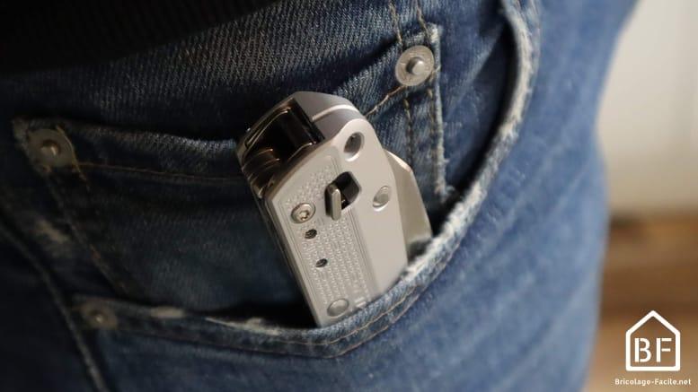 le Free K4X porté dans la poche