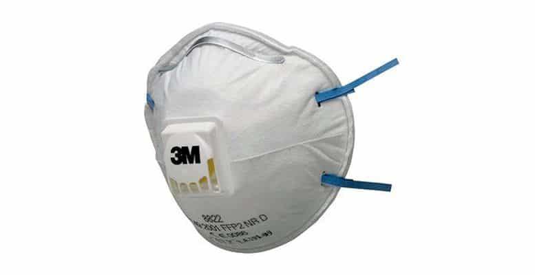 masque anti-poussière jetable FFP2 3M 8822