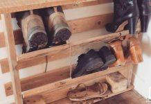 Meuble à chaussure en palettes