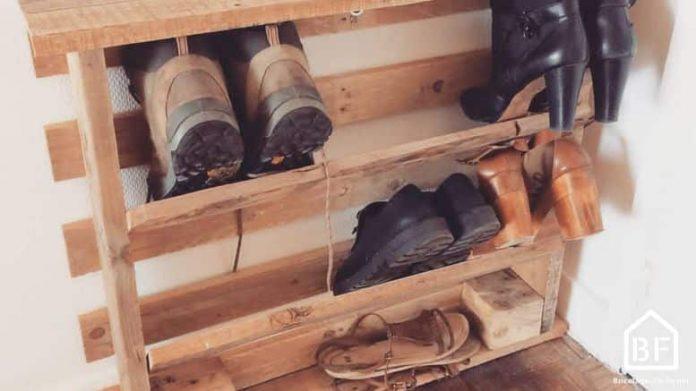 Fabriquer Un Meuble à Chaussures En Palette Bricolage Facile