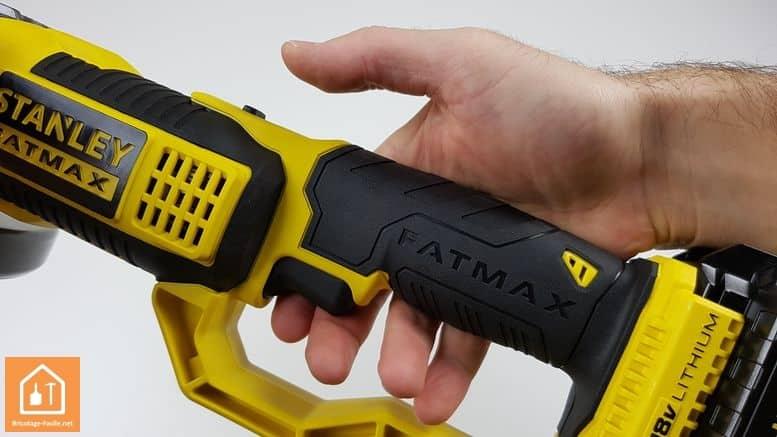 meuleuse sans fil Stanley Fatmax - protection de la main