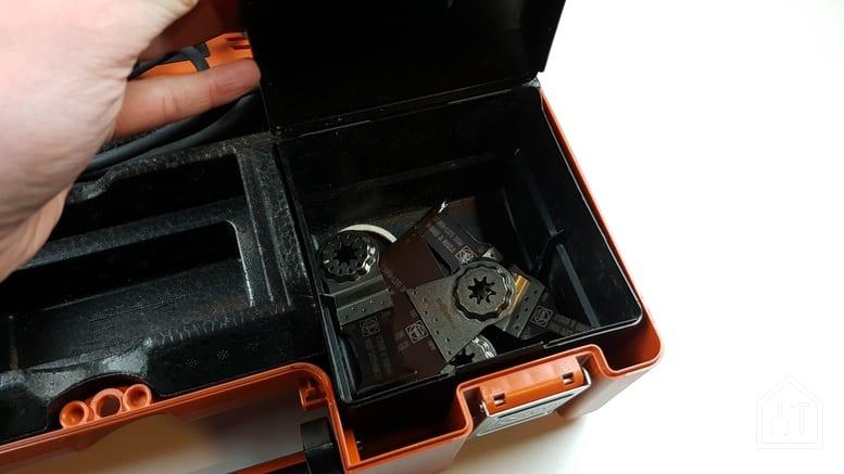 MultiMaster FMM 350 Q de FEIN - coffret de rangement des accessoires