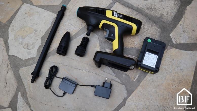 Karcher KHB 6 et ses accessoires et batterie