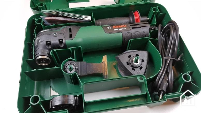 outil multifonction PMF 350 CES de Bosch - mallette ouverte