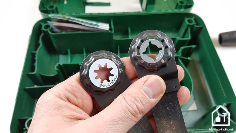 outil multifonction PMF 350 CES de Bosch - tête des lames colorées