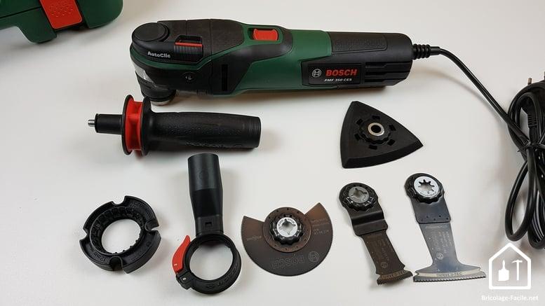 outil multifonction PMF 350 CES de Bosch - contenu de la mallette
