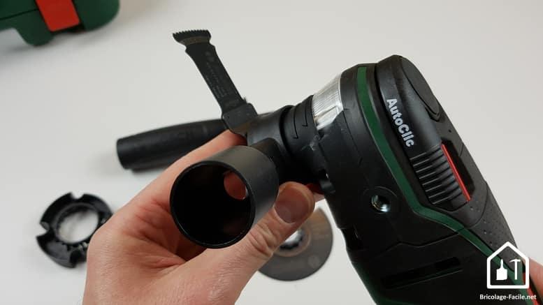 outil multifonction PMF 350 CES de Bosch - kit d'aspiration fixé