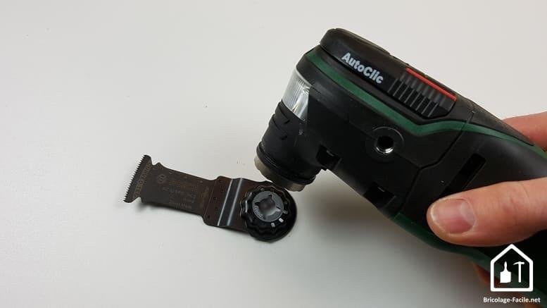 outil multifonction PMF 350 CES de Bosch - système de fixation des accessoires