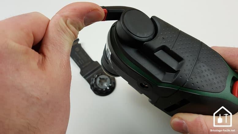 outil multifonction PMF 350 CES de Bosch - accessoire retiré