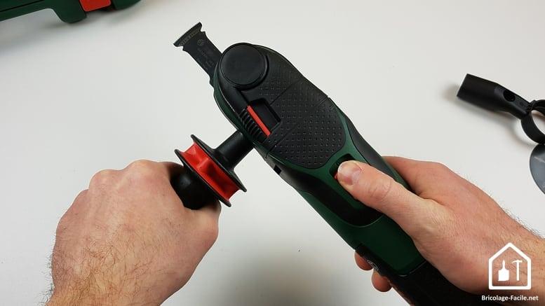 outil multifonction PMF 350 CES de Bosch - poignée fixée