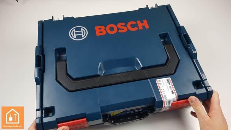 outil multifonctions GOP 40-30 de Bosch Professional - la boite de rangement
