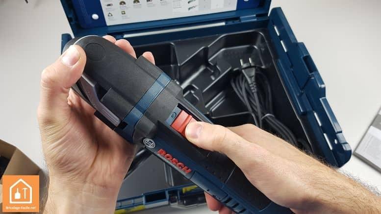 outil multifonctions GOP 40-30 de Bosch Professional - le bouton de démarrage