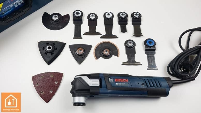 outil multifonctions GOP 40-30 de Bosch Professional - les accessoires