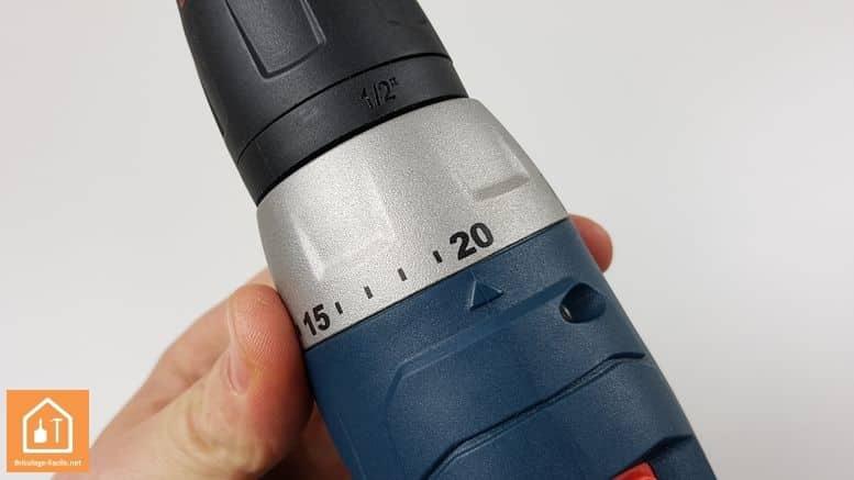perceuse 14,4 Bosch Professional - bague de couple
