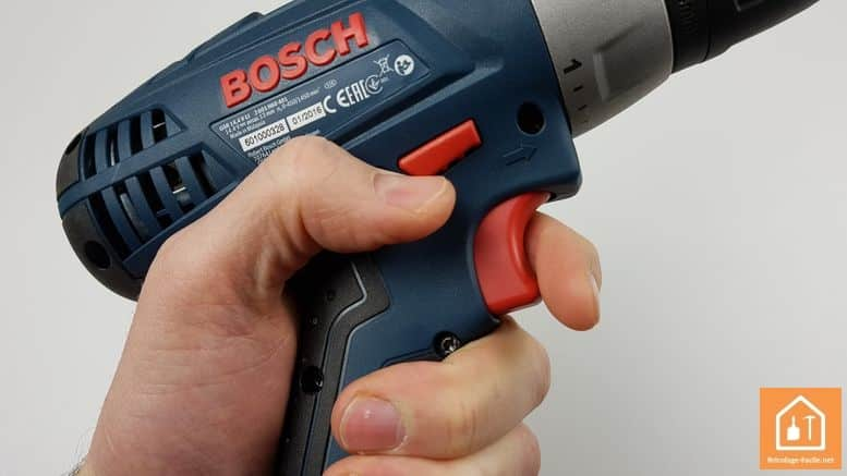 perceuse 14,4 Bosch Professional - boutons