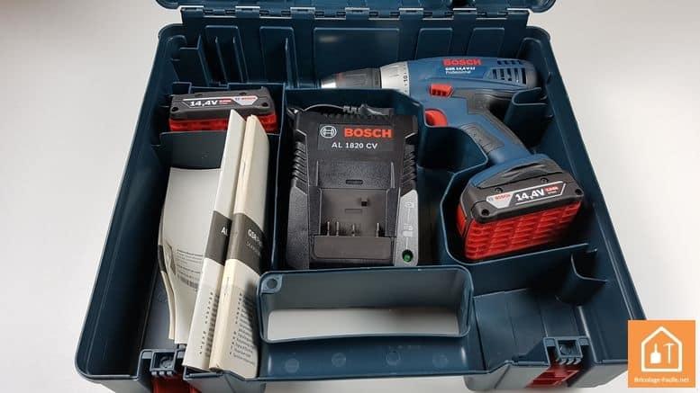 perceuse 14,4 Bosch Professional - contenu de la mallette