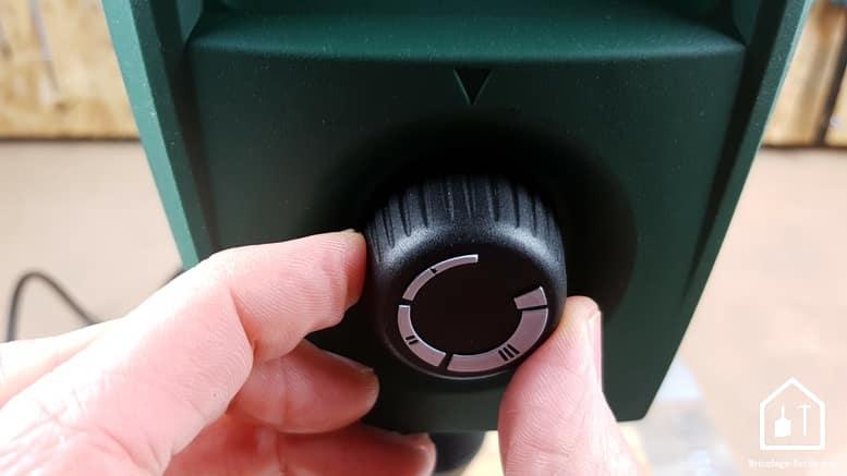 Perceuse à colonne PBD 40 de Bosch - bouton de réglage de la vitesse