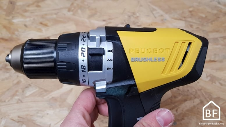 perceuse à percussion Peugeot ENERGYDRILL-18VPBL2 18V