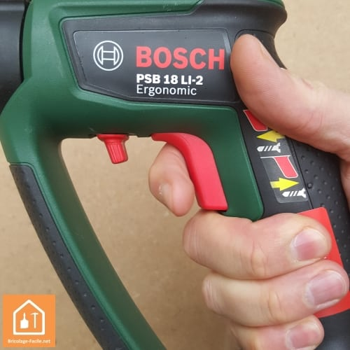 Perceuse à percussion sans fil PSB 18 LI-2 de Bosch