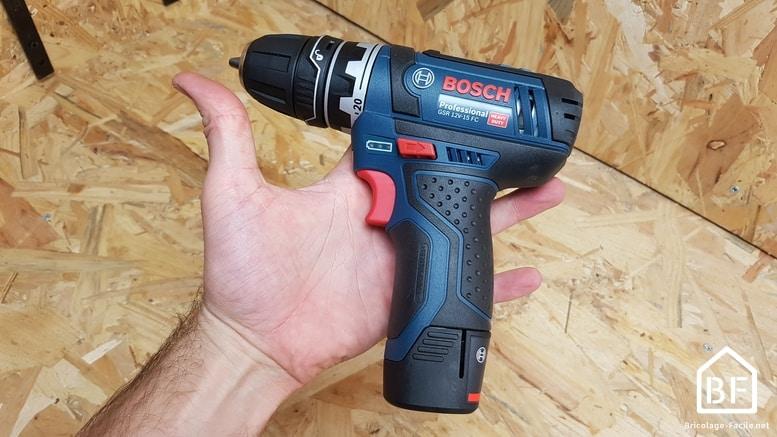 Bosch GSR 12V-15 FC en main