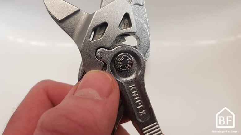 bouton de réglage de l'ouverture