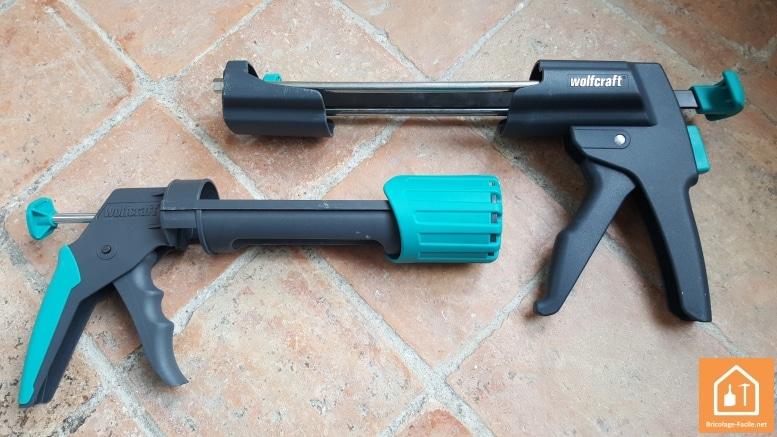 pistolets wolfcraft MG600 et MG200