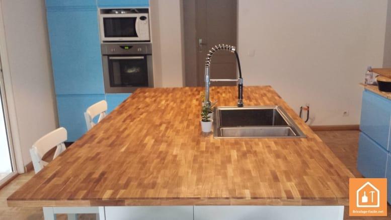 Un plan de travail en bois massif à petit prix • Bricolage Facile