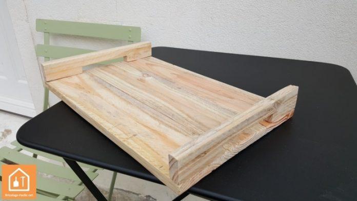 Plateau en bois de palette