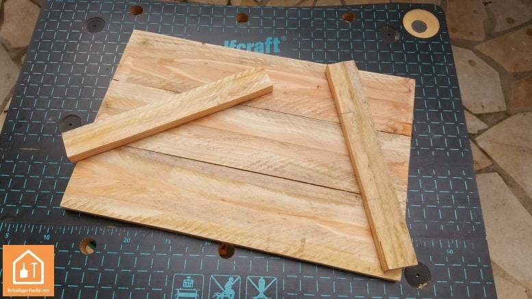 fabriquer un plateau en bois de palettes tuto diy bricolage facile. Black Bedroom Furniture Sets. Home Design Ideas