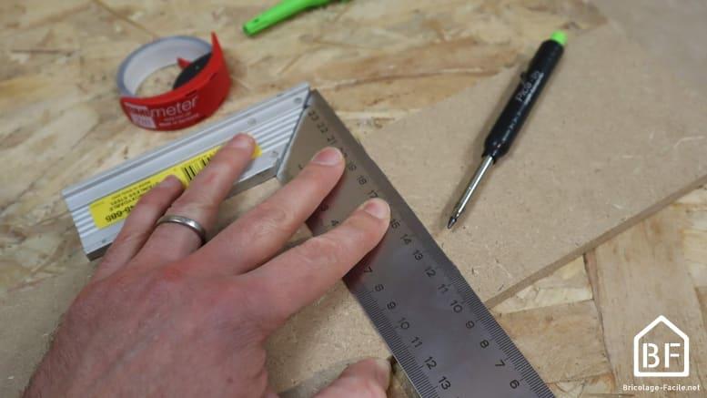 traçage de la largeur de la plinthe
