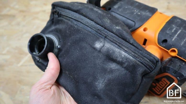 sac de récupération des poussières