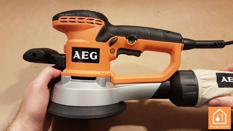 ponceuse excentrique EX 150 E d'AEG - réglage des vitesses