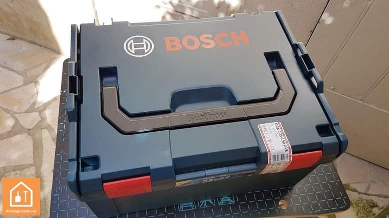 Ponceuse excentrique GEX 125-150AVE de Bosch - boite de rangement L-Boxx