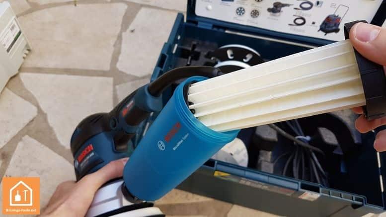 Ponceuse excentrique GEX 125-150AVE de Bosch - filtre à poussière
