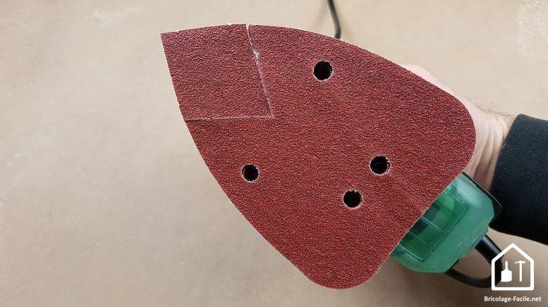 Ponceuse PSM Primo de Bosch - le plateau de ponçage