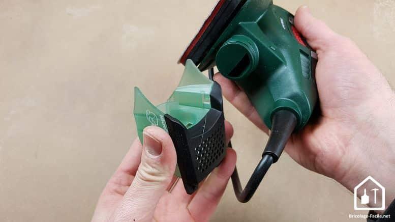 Ponceuse PSM Primo de Bosch - le récupérateur de poussières