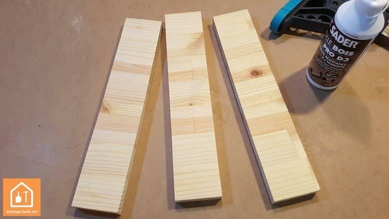 porte crayon en bois - les trois planches